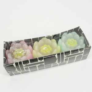 Set of 3 Flower Candles